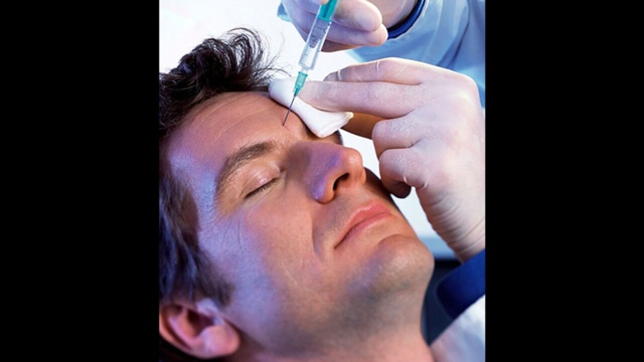Men lining up for botox and eyelid lifts?