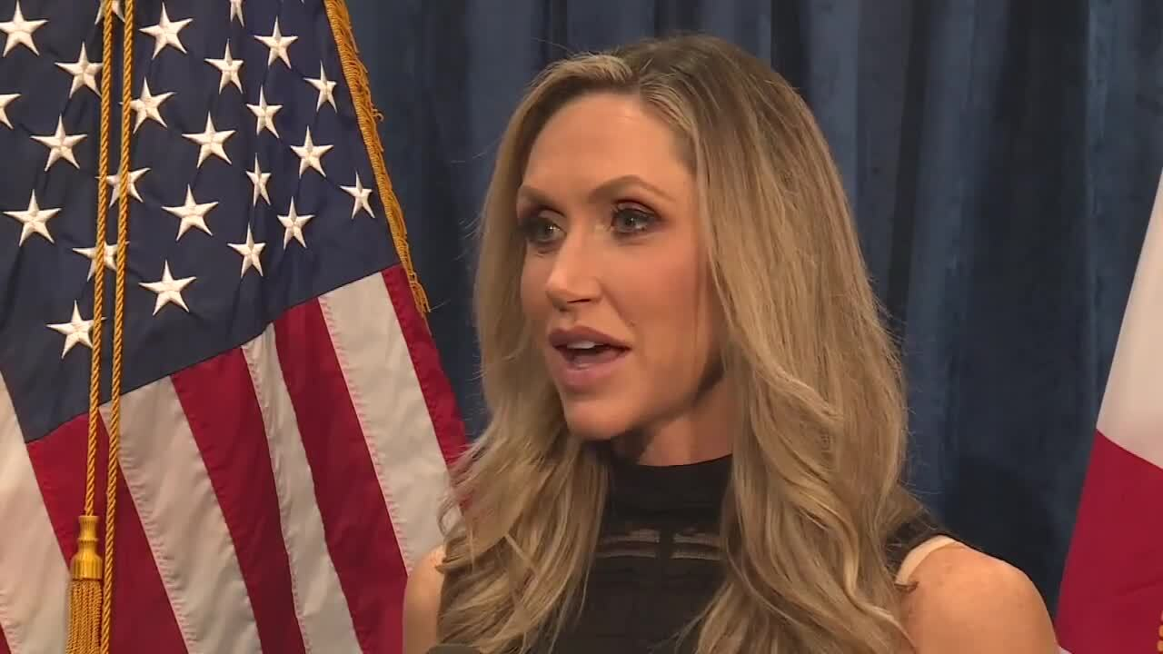 Lara Trump speaks to WPTV on day before election