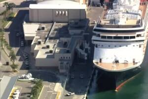 'Sick' cruise ship docks at Port Everglades in Fort Lauderdale, second ship coming in