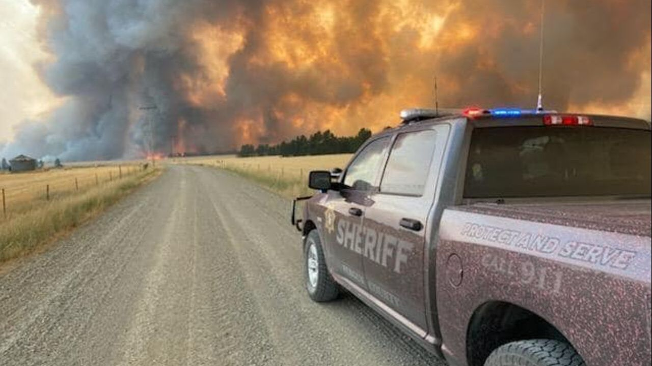 Taylor Fire burning in Fergus County
