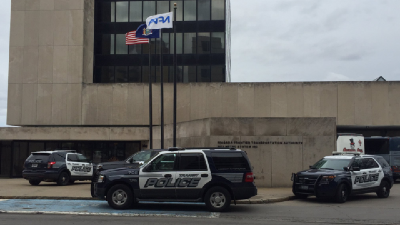Explosives scare at NFTA bus terminal