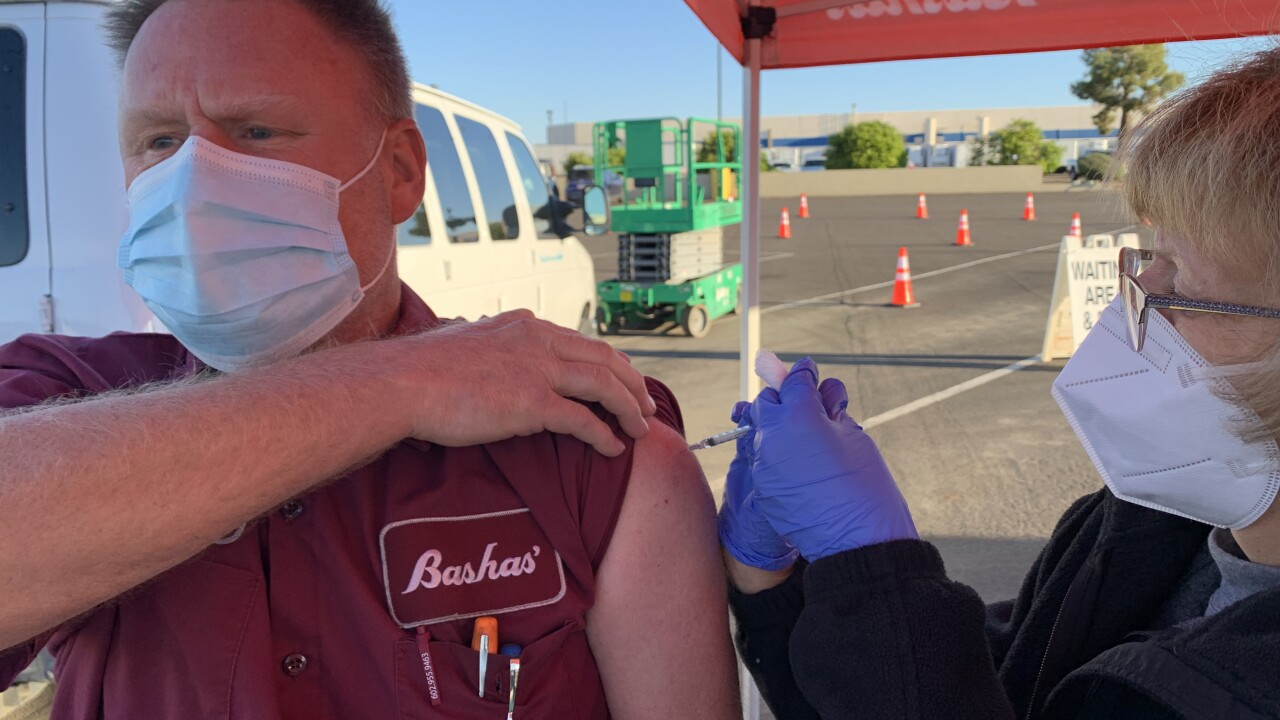 Bashas' workers vaccine event
