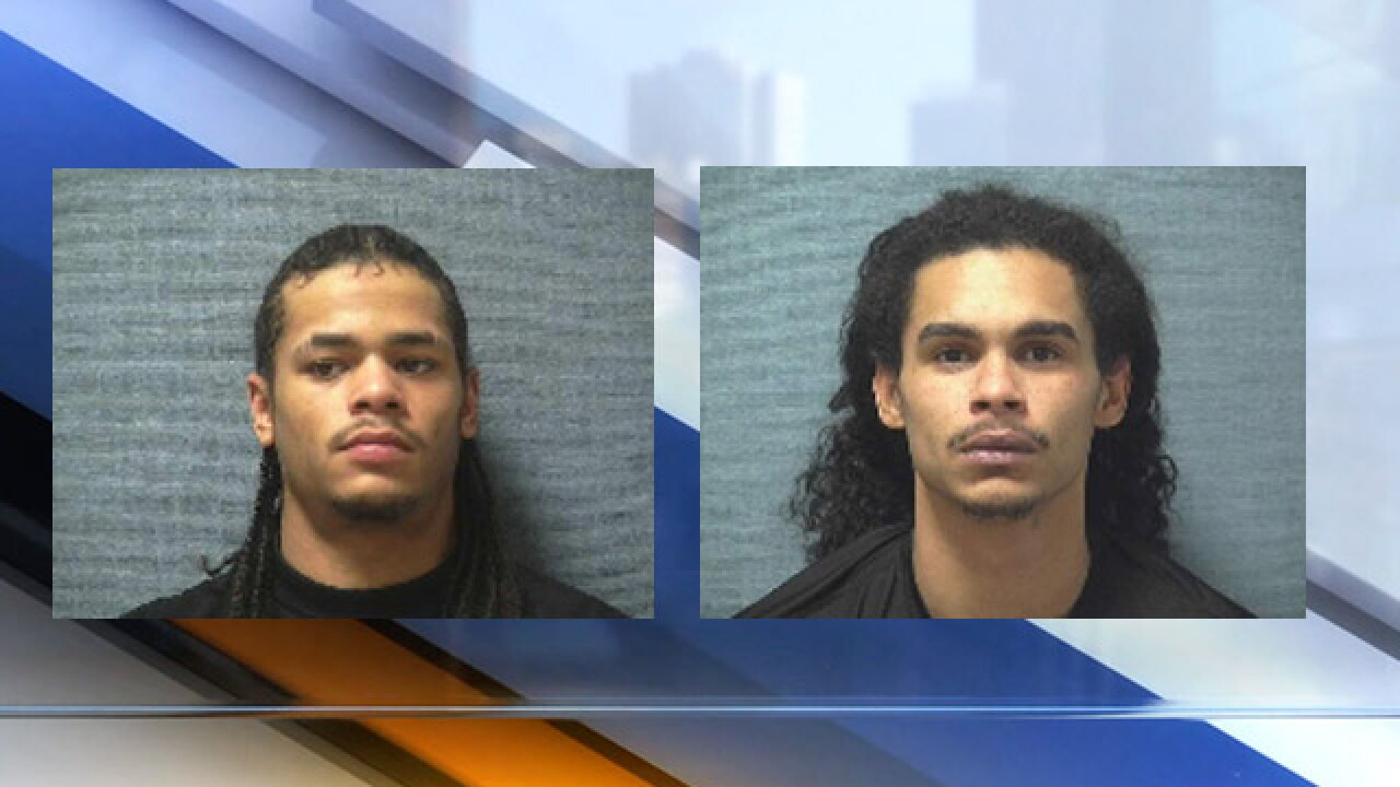 Left: Curtis James Williams, Right: Anthony Greenlief (Source: Canton Police)