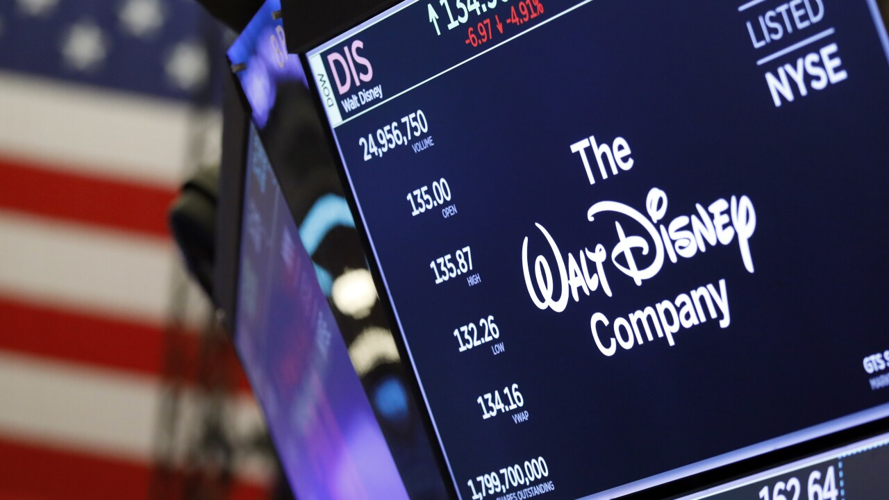 Financial Markets Wall Street Disney Results