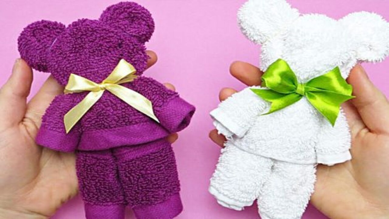 Hand Towel Teddy Bears Are So Easy To Make