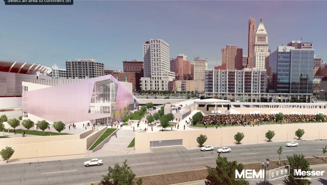 MEMI's proposed concert venue at The Banks.