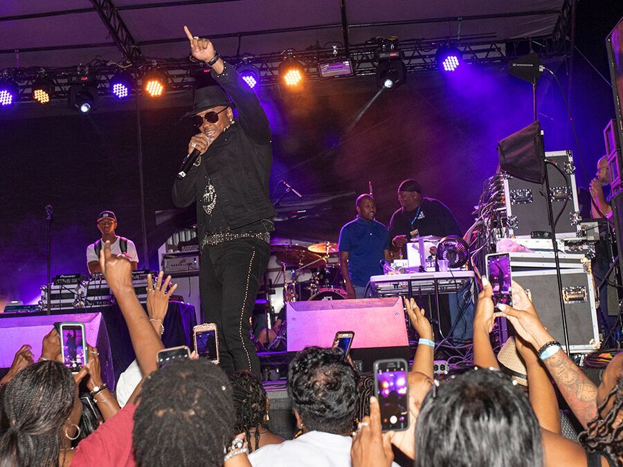 Lando's Old School Music Festival brought R&B group Solo and R&B singers Lyfe Jennings, Donnell Jones and Stokley of Mint Condition to the Hamilton County Fairgrounds on Saturday September 14, 2019. Photo by Joseph Fuqua II for WCPO.
