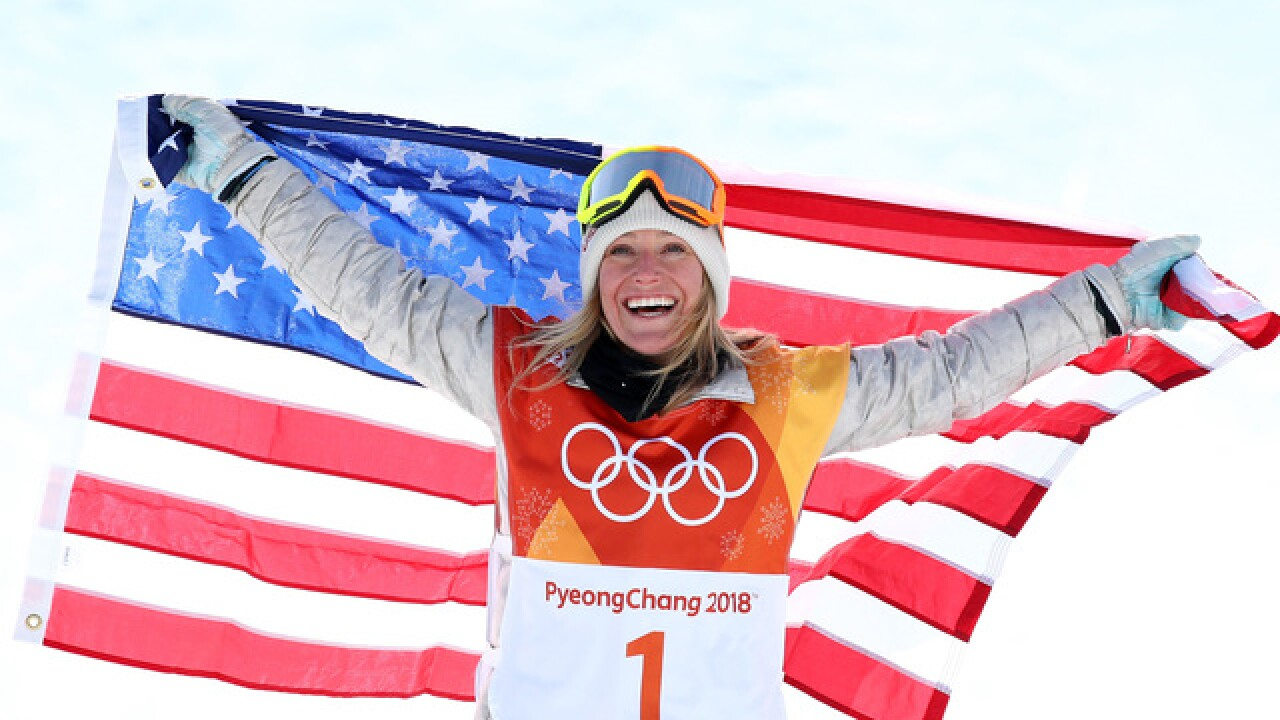 Team U.S.A.'s Jamie Anderson wins gold in slopestyle amid high winds, dangerous conditions