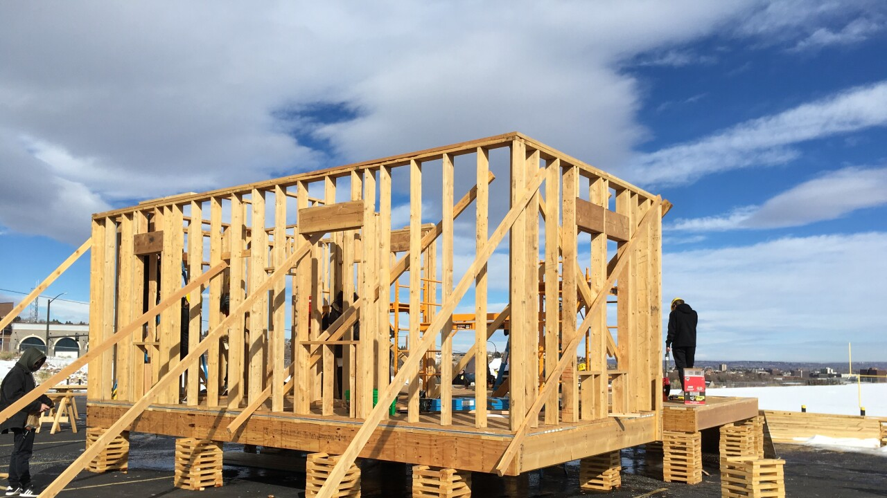 Accessory Dwelling Unit under construction at Green Mountain High School