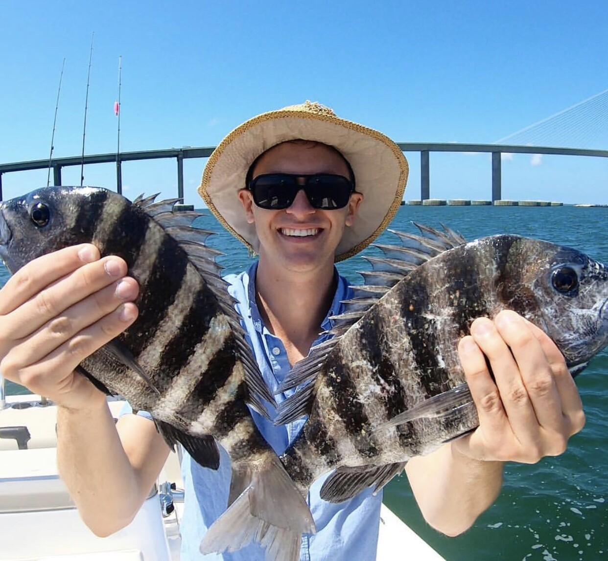 Fishing the Sunshine Skyway Bridge with Freedom Boat Club of