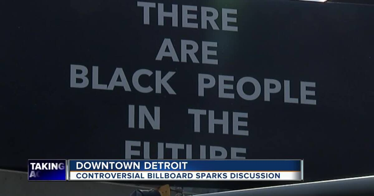 Controversial billboard addresses gentrification in downtown Detroit