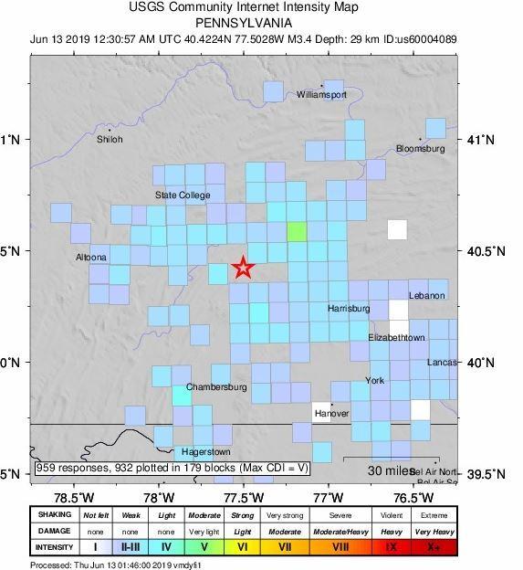 USGS  Earthquake Map     SOURCE: USGS
