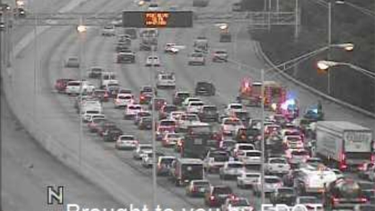 Crash on I-95 in PBC causing major delays