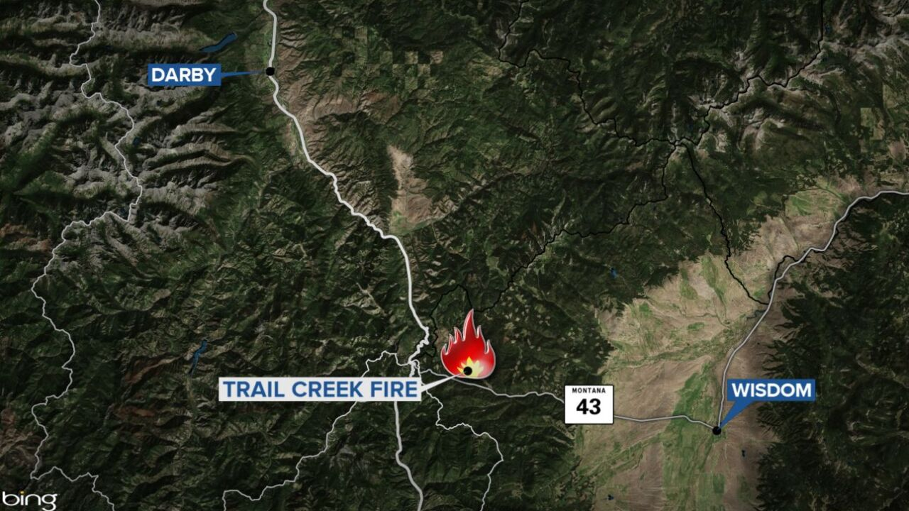 trail creek fire map