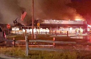 Photos: Overnight fire destroys Michigan landmark Dublin General Store nearWellston