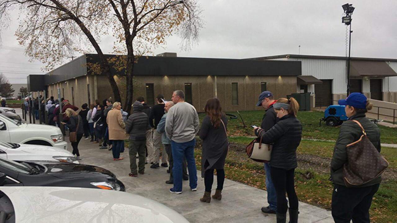 Long lines in JoCo on last day of early voting