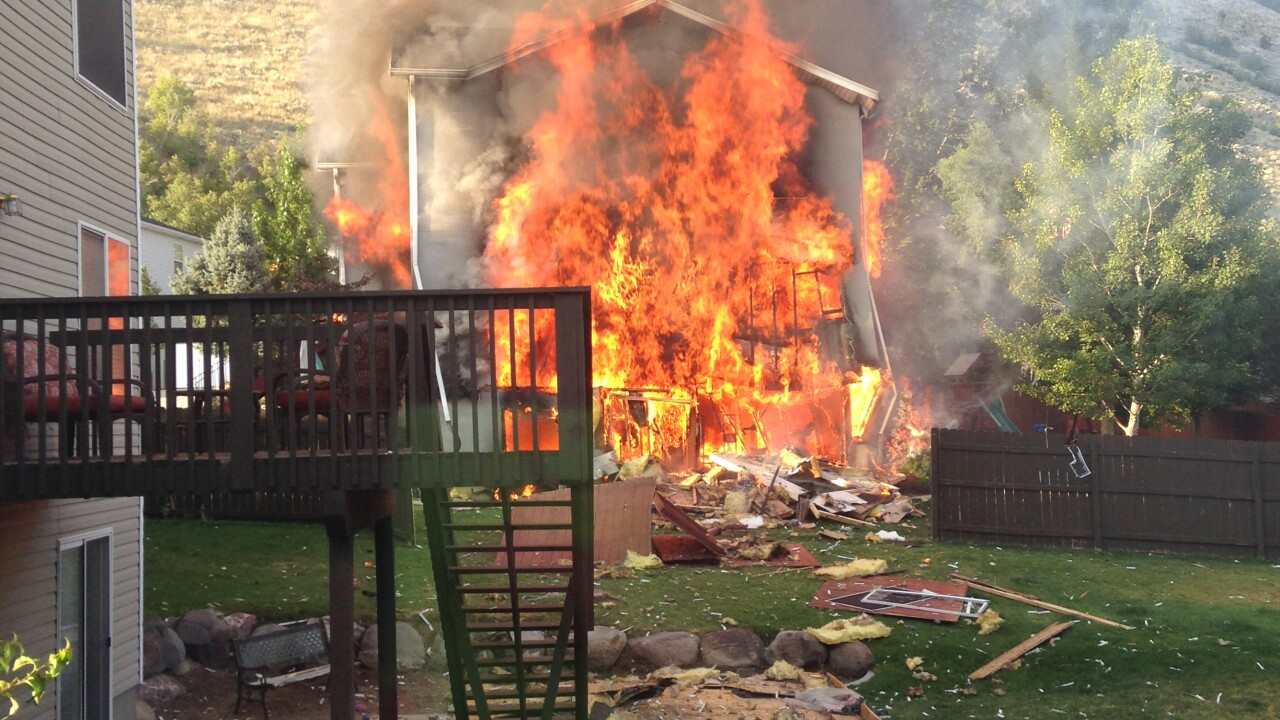 Homeowner hospitalized after explosion causes 2-alarm fire