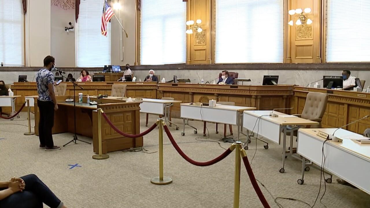 Cincinnati city council defund the police motion