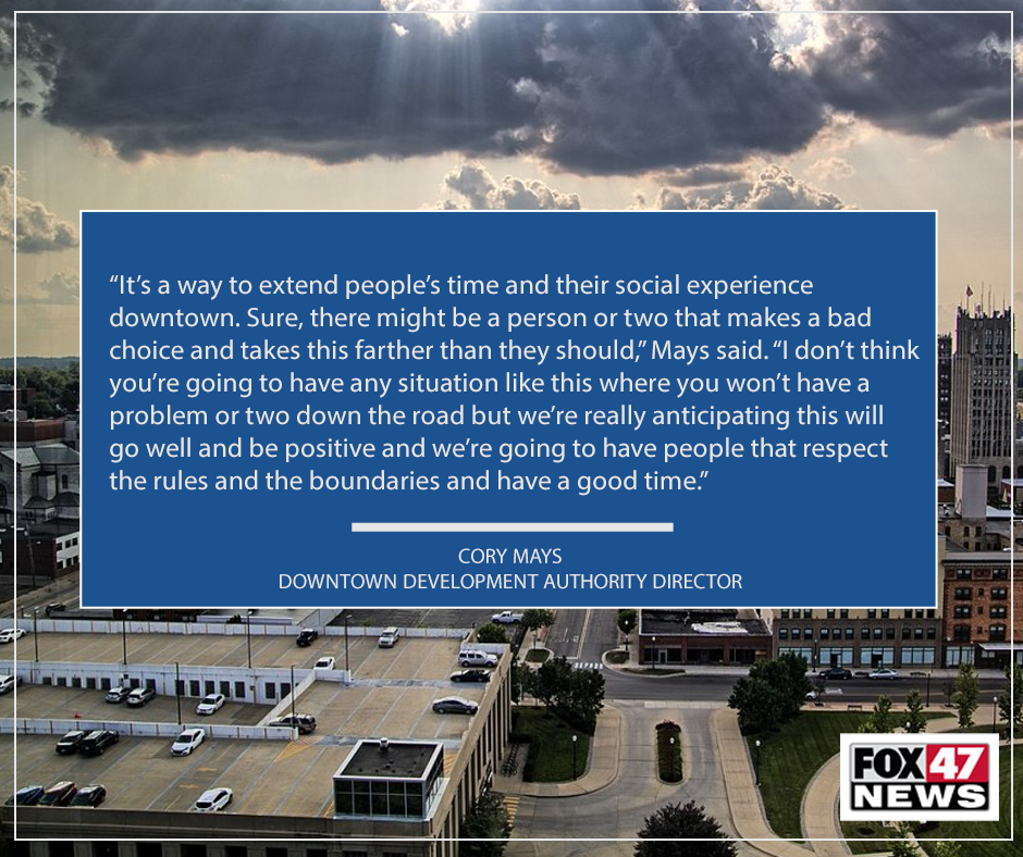 City of Jackson social districts quote