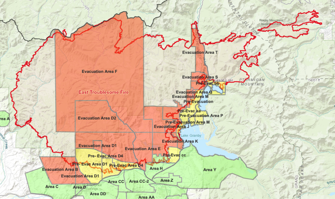East Troublesome Fire evacuation map_Oct 30 2020