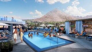 Caesars Republic Scottsdale pool Seven artist rendering
