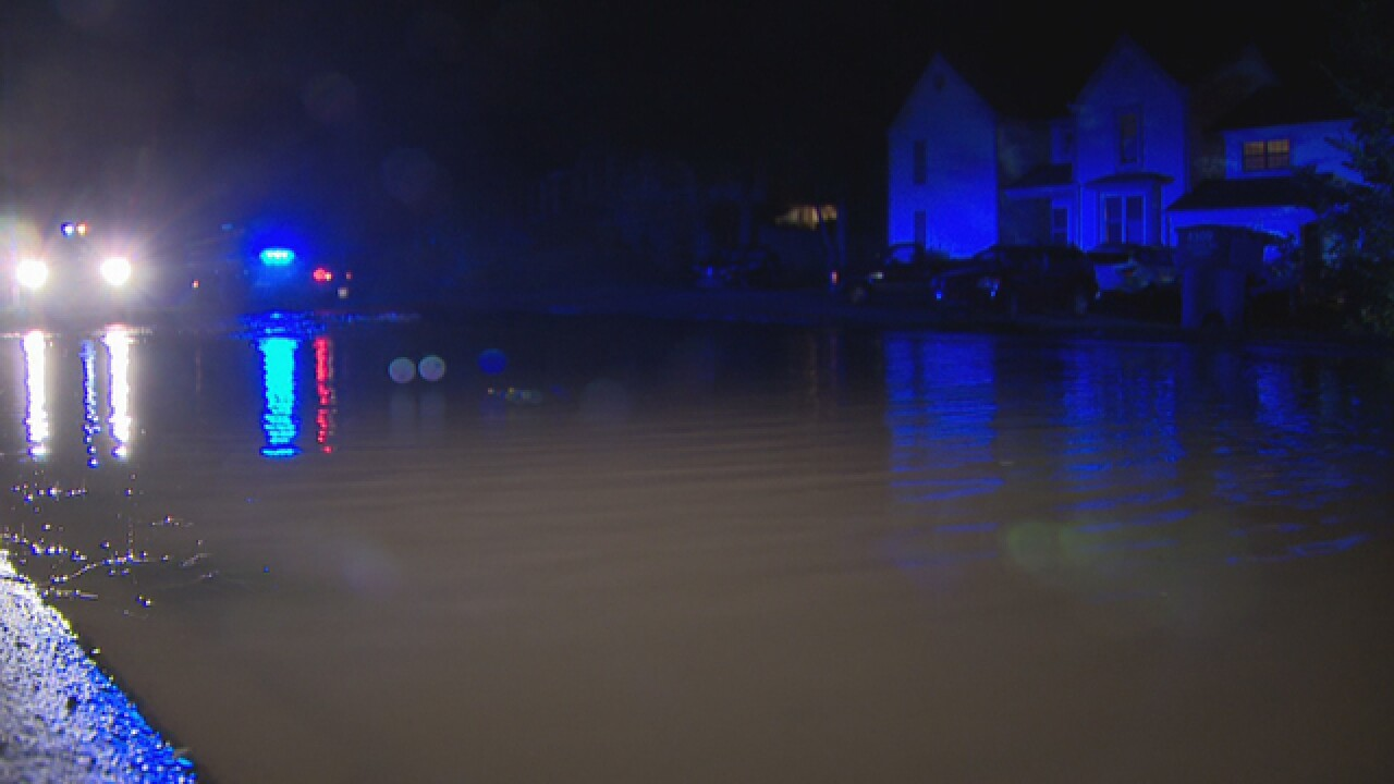 Water Main Break Damages Road In Hermitage
