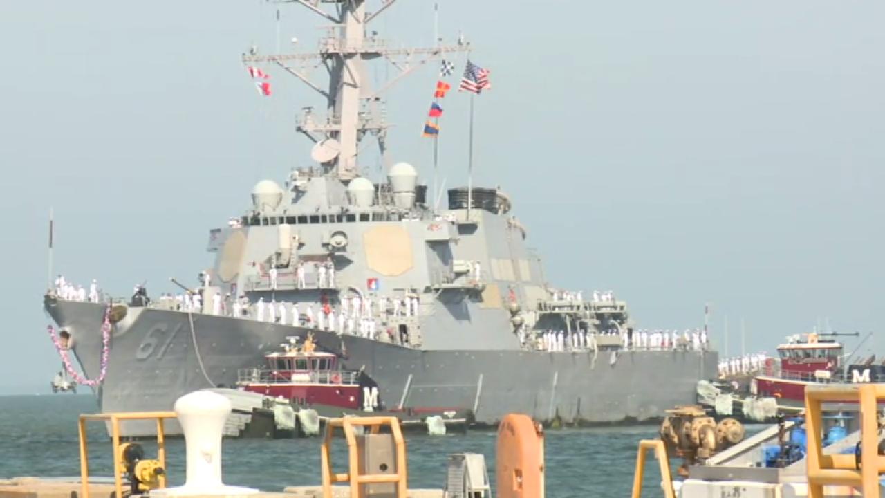 Watch: USS Ramage deploys from Naval StationNorfolk