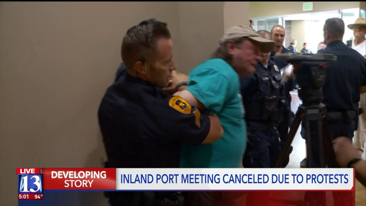 Inland Port meeting canceled due to protesters; one personarrested