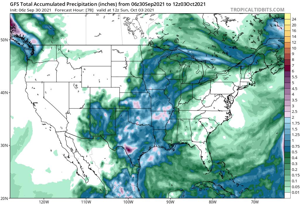 Rainfall Forecast By Sunday