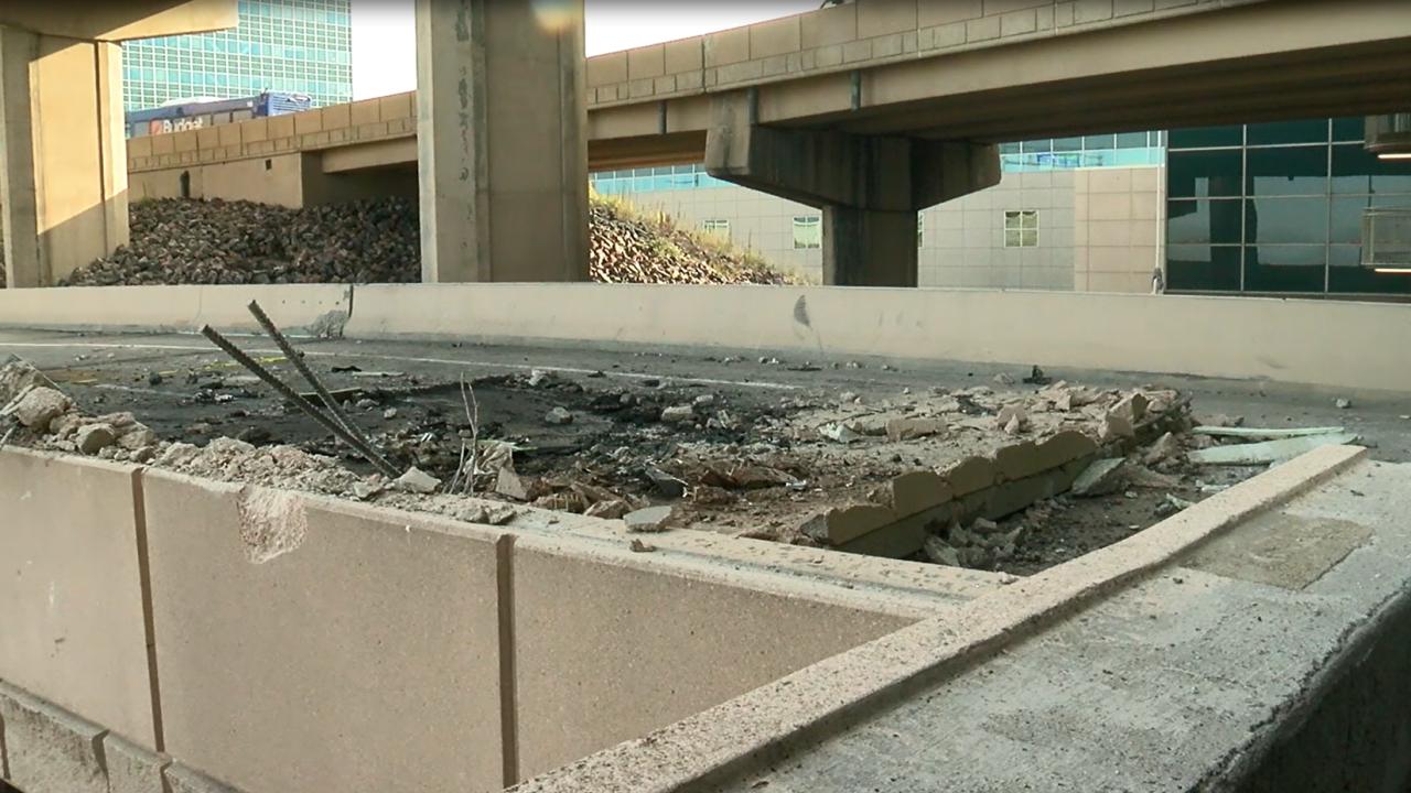 1 dead after car crashes, falls two levels outside Denver International Airport_Sept 14 2020