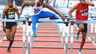 Roberts Sets NCAA Championships 110H Record in Semifinals