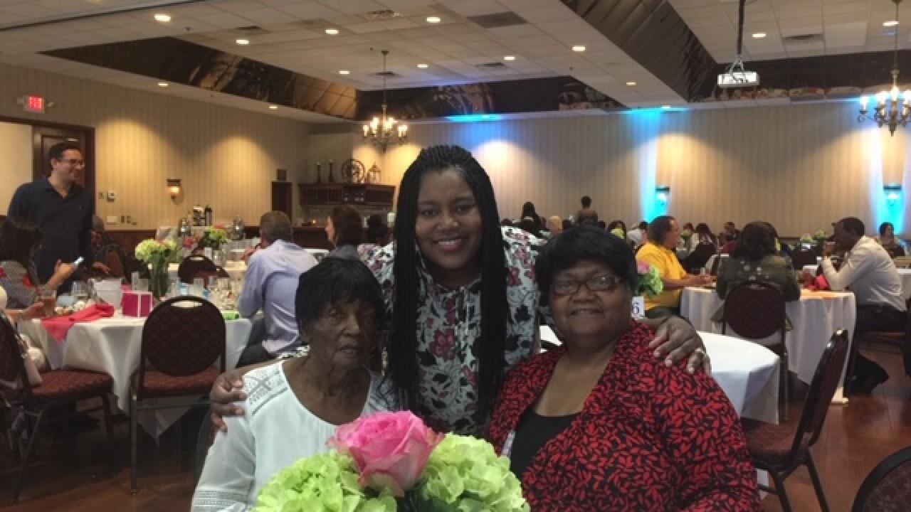 Principal Tanzanique Carrington, Shirley Stephens and Shirley's mom