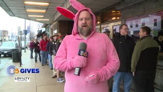 Why this giant pink bunny handed out free movie tickets at the Byrd Theatre