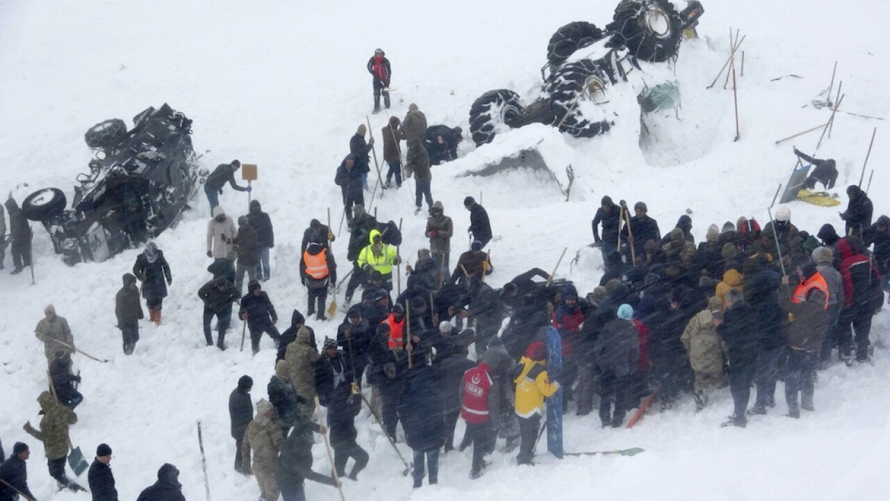 38 people killed in a series of avalanches in eastern Turkey