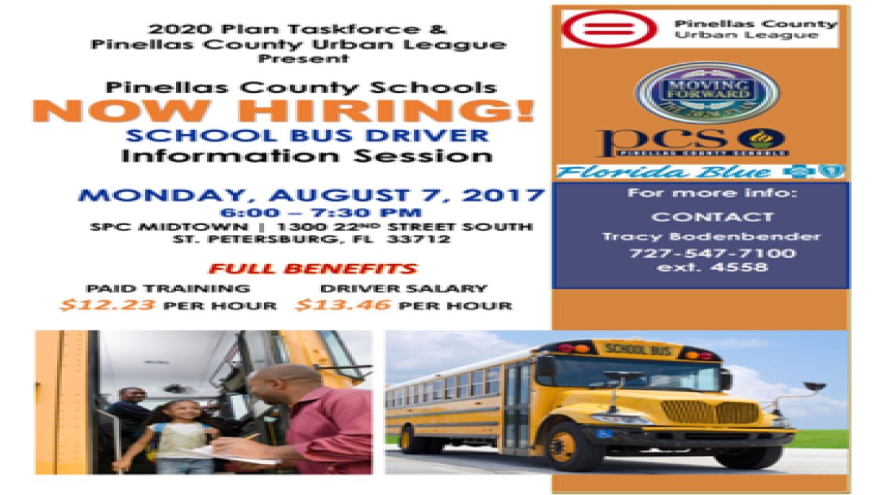 Pinellas County hiring school bus drivers