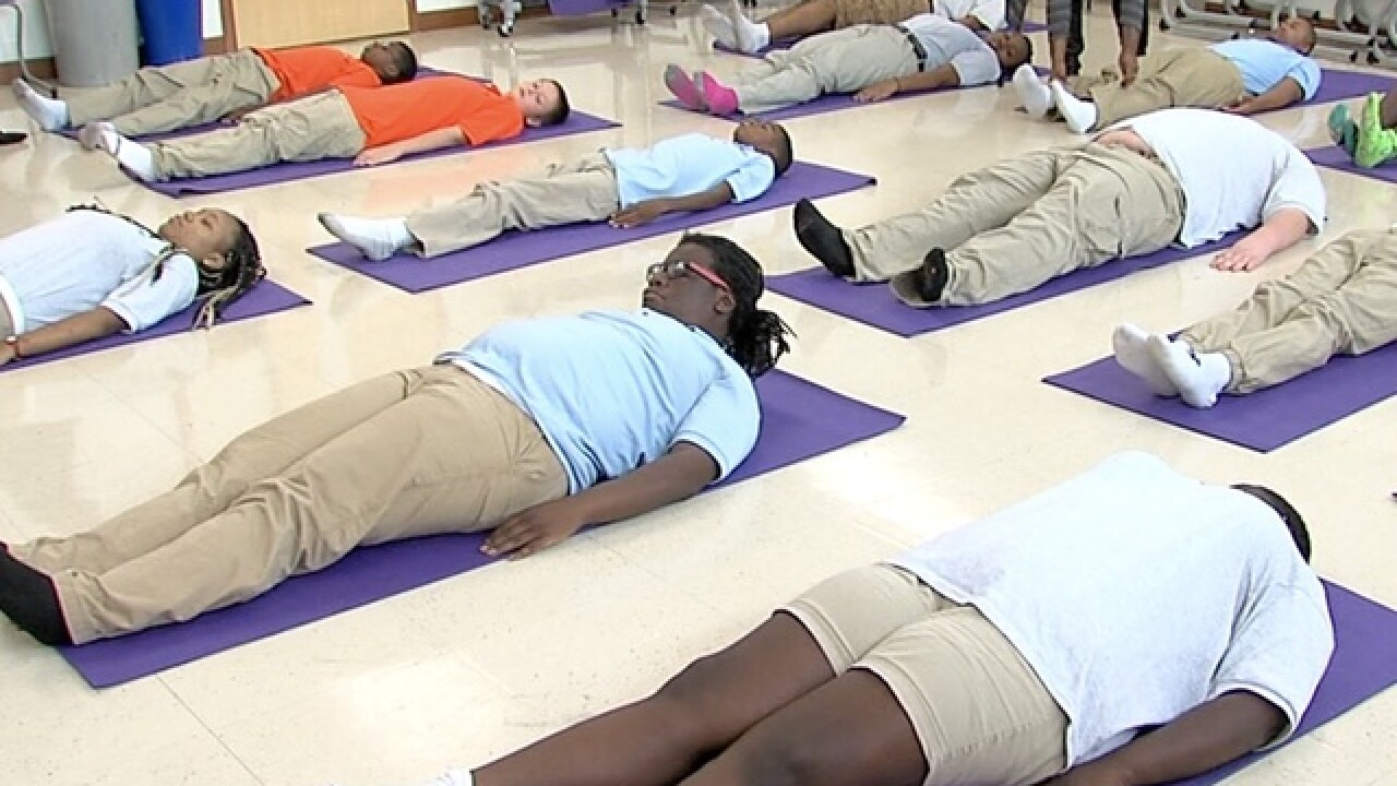 Yoga helps special needs students focus