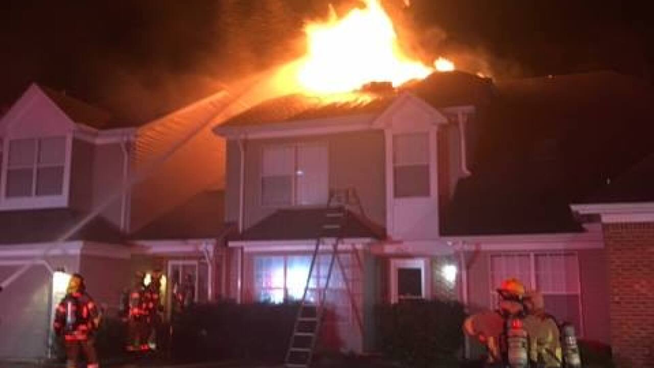 Early-morning fire damages three Virginia Beachtownhomes