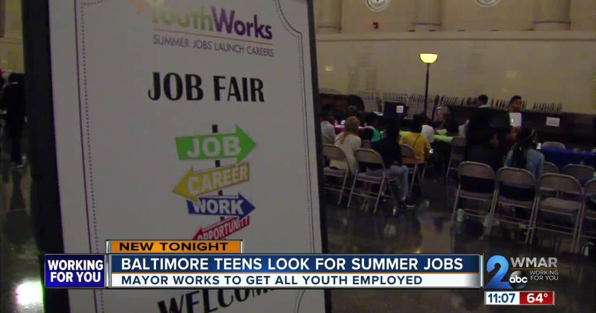 Baltimore teens looking for summer jobs through YouthWorks