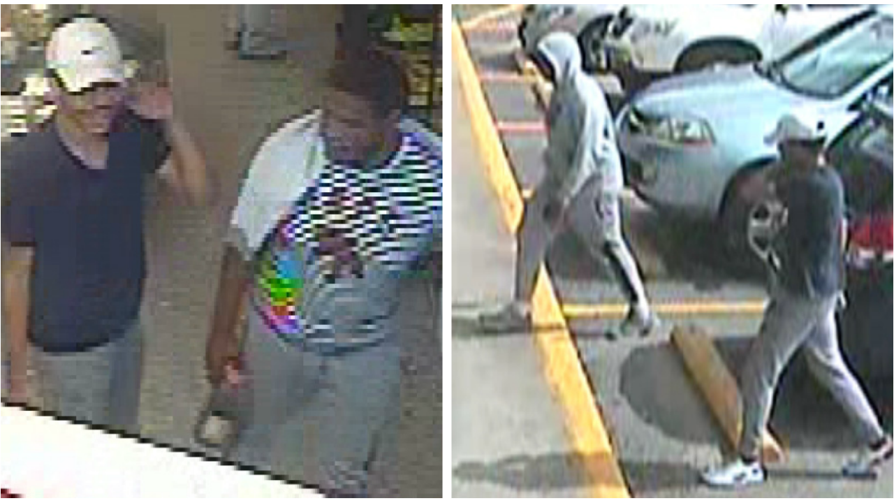 Photos show men wanted in Chesterfield attempted robbery, vehicle theft
