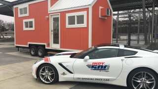 Tiny houses will be available for rent inside the track for the 2018 Indianapolis 500