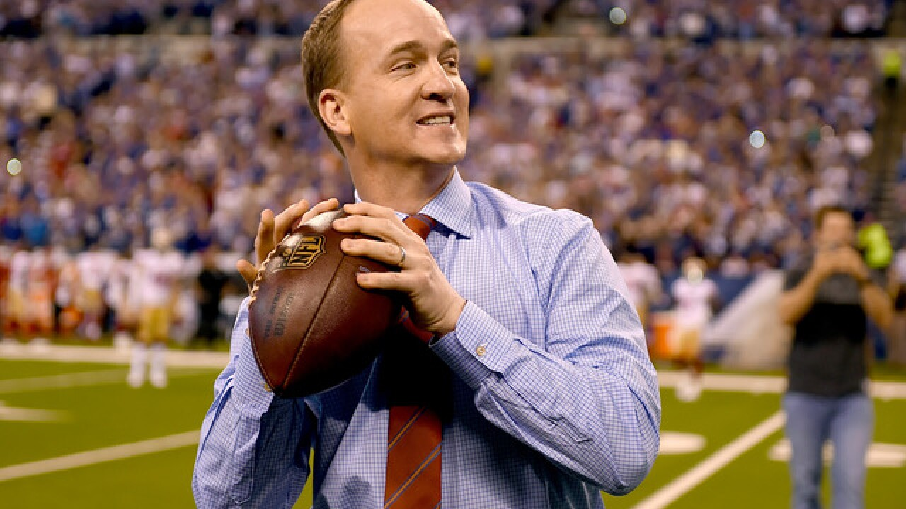 Peyton Manning's #18 Colts jersey is now retired
