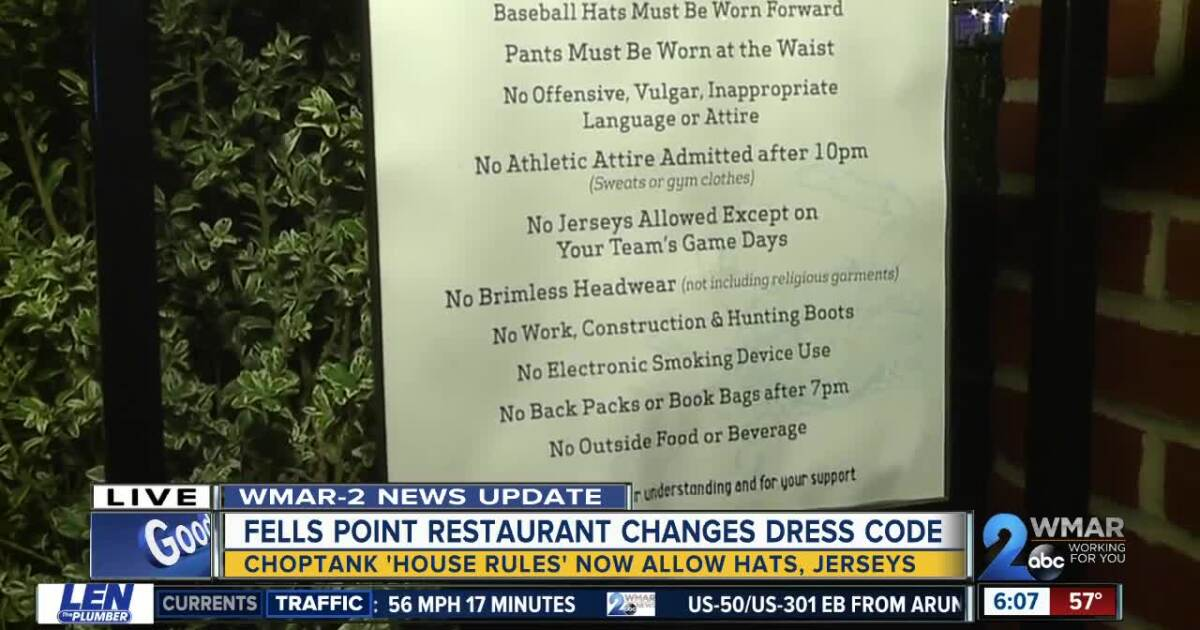 The Choptank restaurant under fire for 'discriminatory' dress code