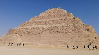 A general view shows the step pyramid of Djoser in Egypt's Saqqara necropolis, south of the capital Cairo, March 5, 2020.