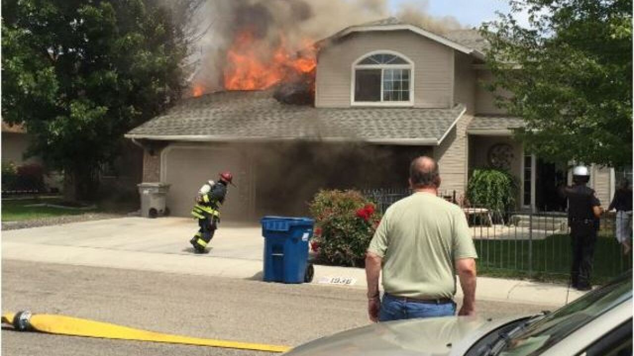 3-alarm fire reported in west Boise