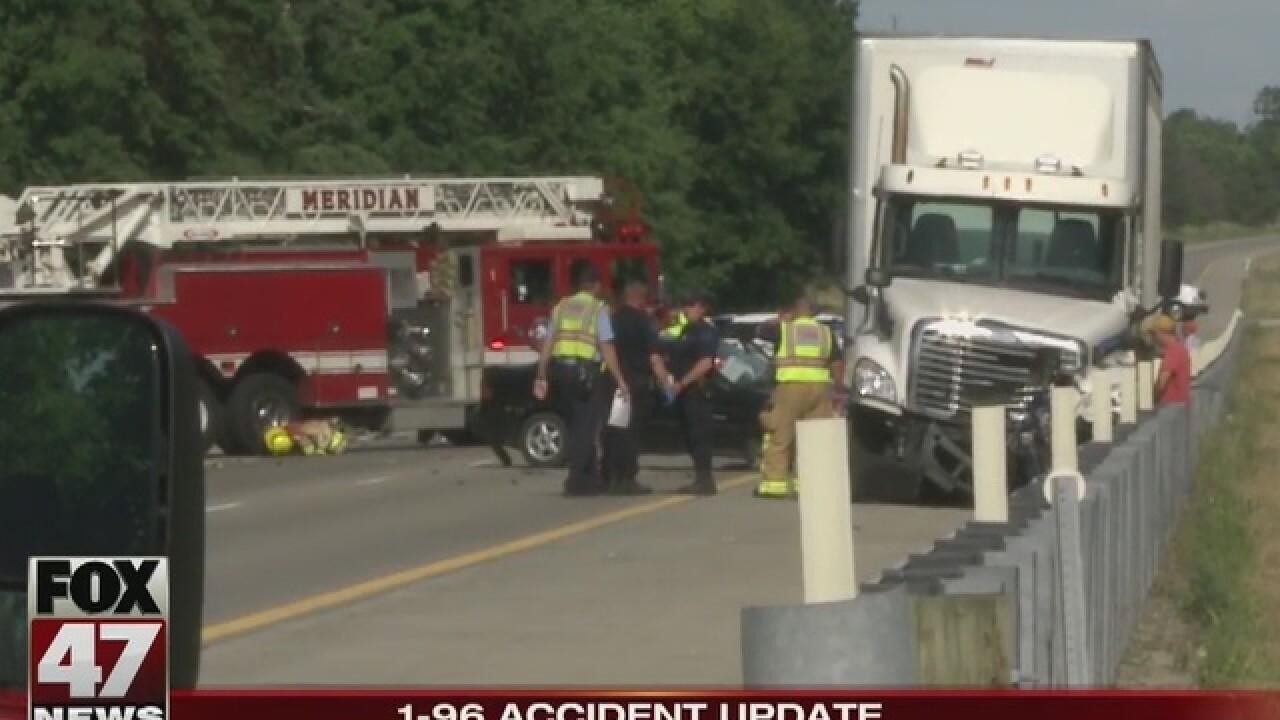 Children injured in I-96 accident still critical