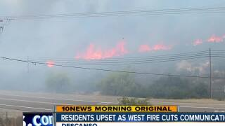 Descanso residents demand answers after West Fire cuts wireless service