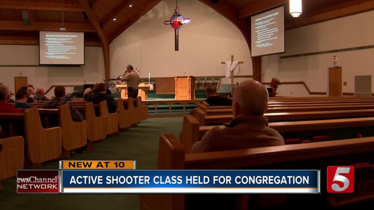 Active Shooter Class Offered To Churchgoers