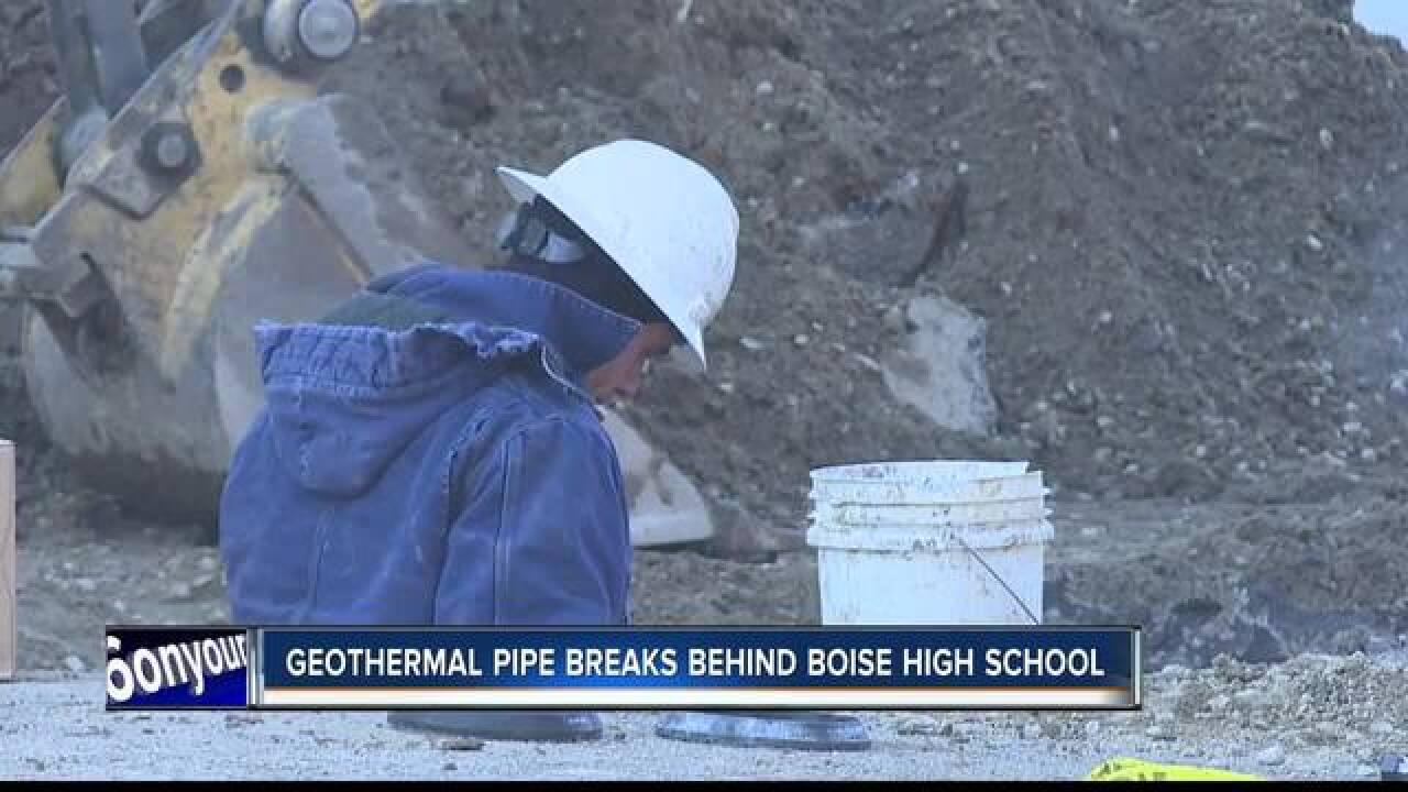 Geothermal line break near Boise High School