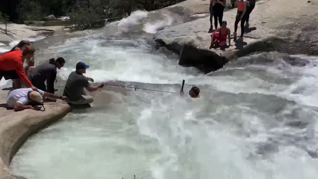 Off-duty officer saves California hiker caught in fast-moving water