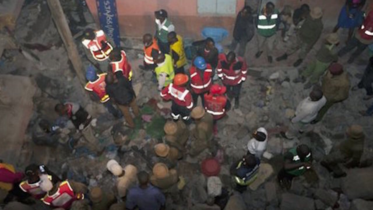 Kenya: Baby saved from collapsed building